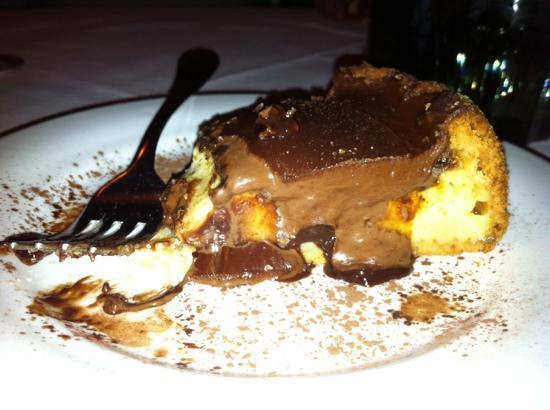 Buggiano, Italy: torta di semolino e nutella