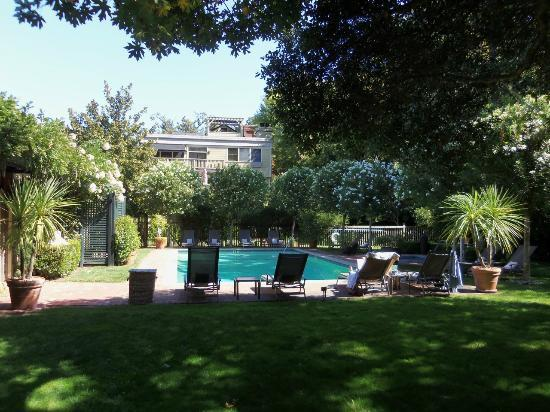 Gaige House, A Four Sisters Inn: pool area facing the house