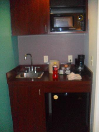 SpringHill Suites Florence: Nice little area with fridge, sink, and microwave