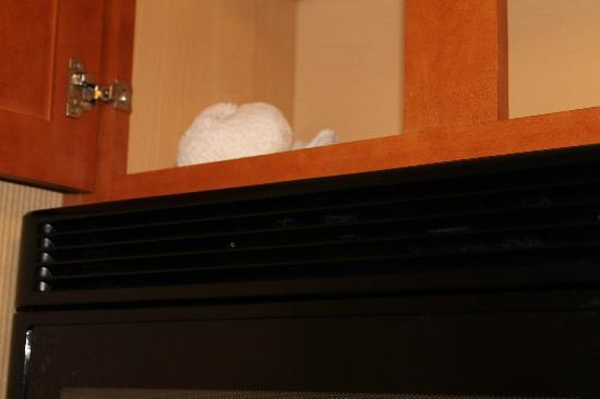 هوثورن سويتس باي ويندام إيربورت كولومبوس: Dirty kitchen cabinet 