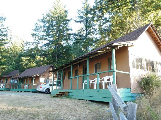 Rustic cabins picture of log cabin resort olympic for Log cabin resort lago crescent wa