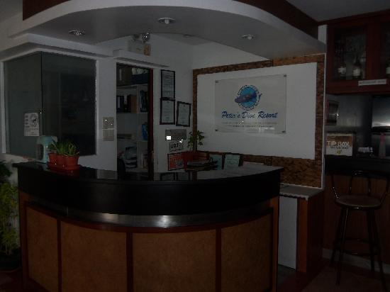 Peters Dive Resort: Reception