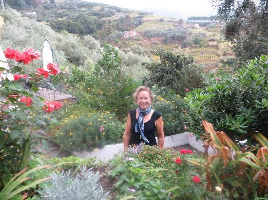 Le Giare: The beautiful garden and hillside at hotel