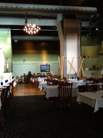 View of the main dining area at the Blue Orchid.