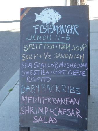Fishmonger's Cafe : Specials