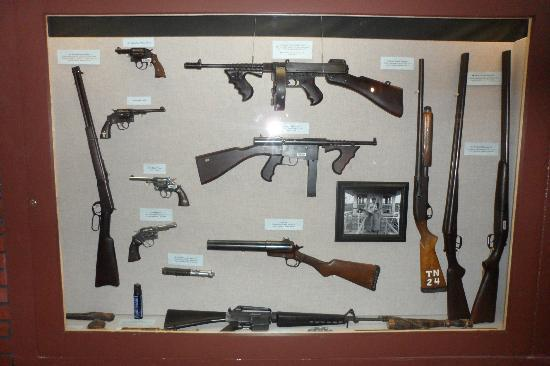 Texas Prison Museum: Weapons for the guards