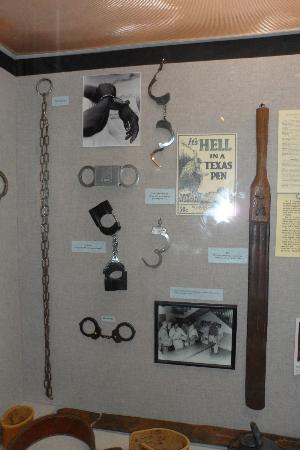 Texas Prison Museum: Types of restraint