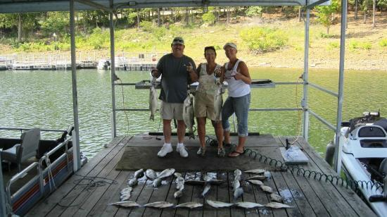 Bud Lady Fishing Guide Service: Our 28-fish catch... with Terri (our guide)