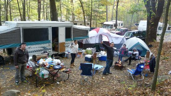Cranberry Run Campground: our site