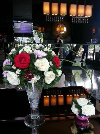 lovely fresh flowers at the reception
