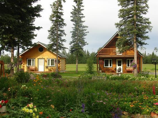 Garden Bed & Breakfast: Our new cabins overlook the gardens