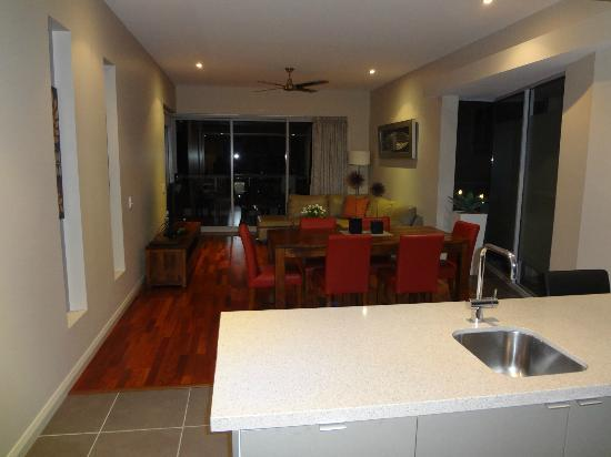 Whitsunday Reflections: Kitchen, Dining, Lounge areas