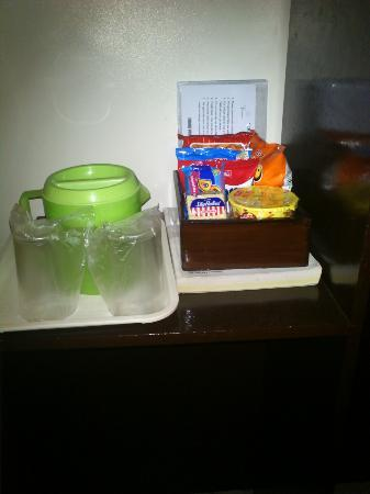 Verbena Hotel: Free water but these snacks aren't