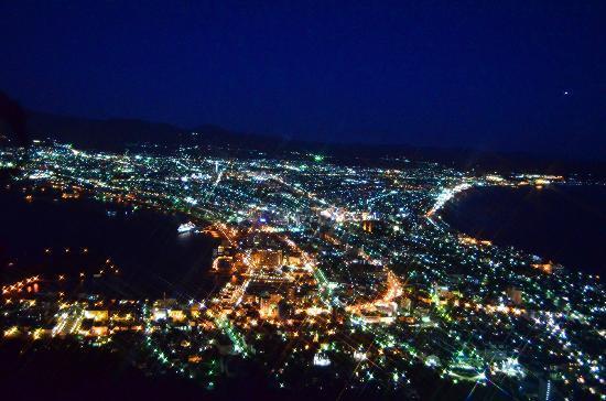 Mount Hakodate: 日没直後の夜景