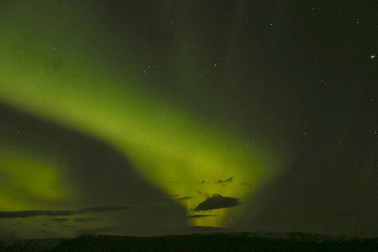 Icelandair Hotel Hamar: NorthernLight From Hot Tub