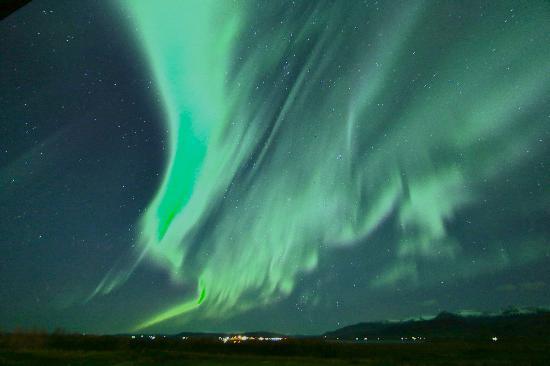 آيسلاندير هوتل هامار: Northern Lights From Hotel Hamar 