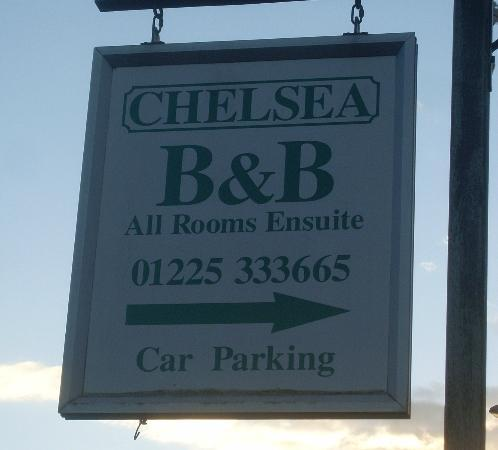 The Chelsea B&B: sign