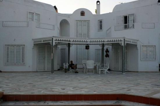 La Maison Salma : vue de la terrasse, où nous avons dégusté notre repas d'arrivée