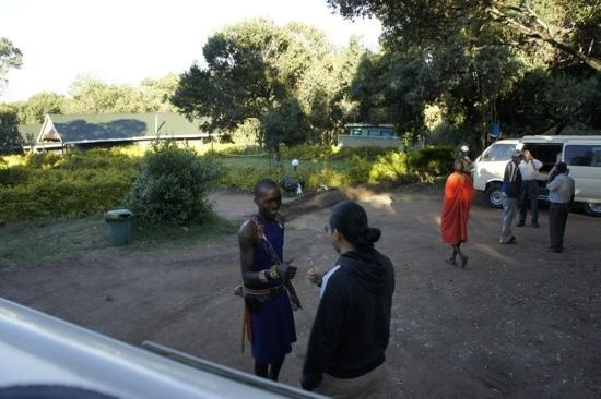 Rhino Tourist Camp: Thomas the Masai guard