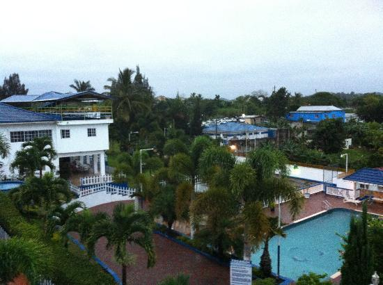 Mandeville, Jamaica: View from room (cloudy day)