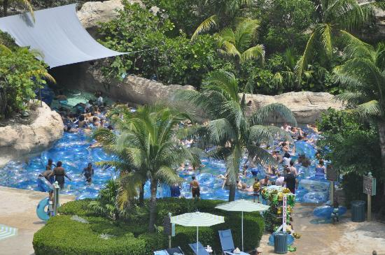 The Cove at Atlantis: Overcrowded water park