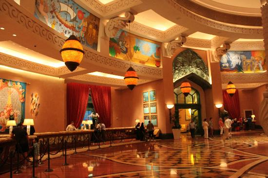 Hotel lobby picture of atlantis the palm dubai for Best value hotels in dubai