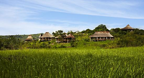 Kyambura Gorge Lodge: The lodge buildings