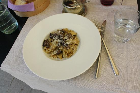 Casanova di Pescille: Cooking Class Results - Homemade Pasta w/Tuscan Sausage and Radicchio