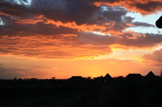 Amani Mara Lodge: Sunset every evening