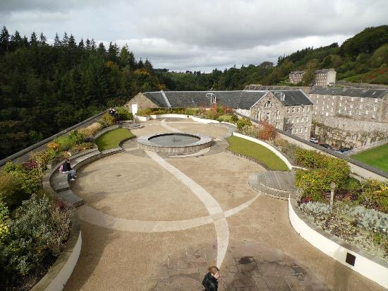 New Lanark World Heritage Village: Roof top garden