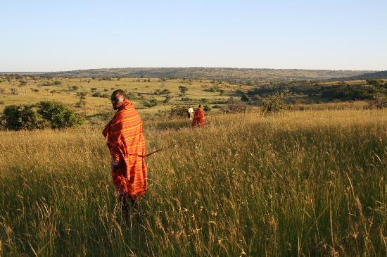 Amani Mara Lodge: Guided walks with Masai guides