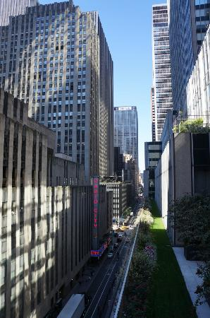 Club Quarters Hotel, opposite Rockefeller Center: View from Terrace Level