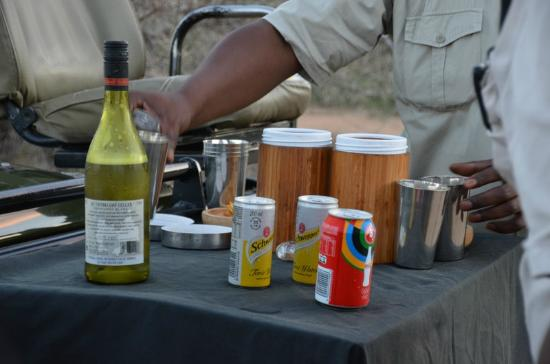 N'kaya Lodge: aperitif in the bush