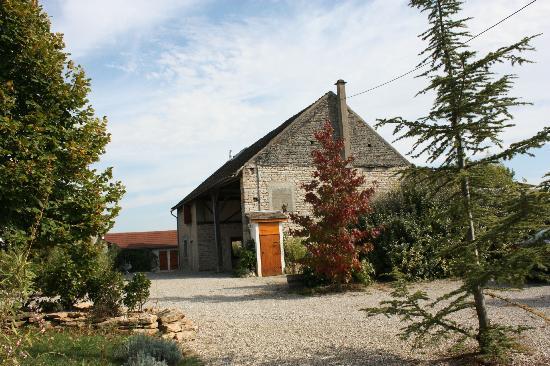Le Clos de la Challangette : View from the caravan of the farm