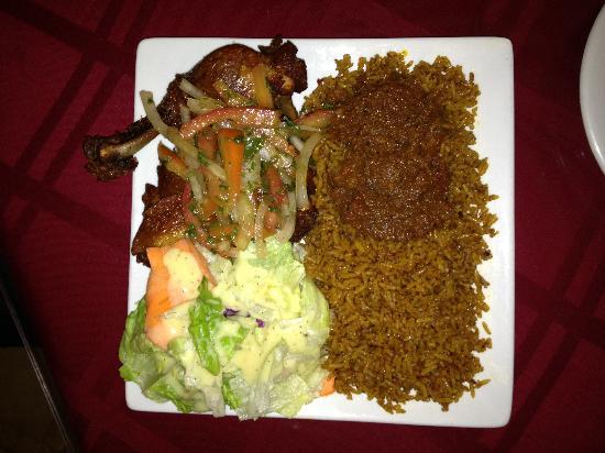 Drelyse African Restaurant: Jollof with chicken