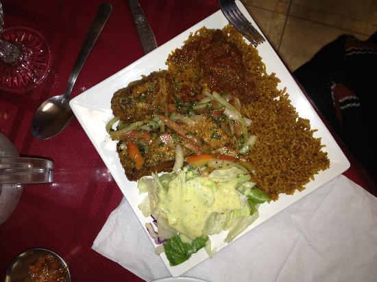 Drelyse African Restaurant: Jollof with fish
