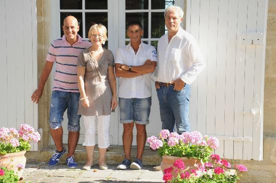 Tauriac, France : Nous deux et les proprietaires Joelle et Christian