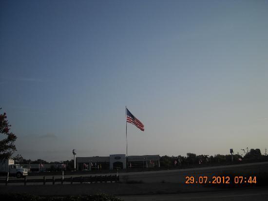 Motel 6 Houston NRG Park - Reliant Stadium: vista dal parcheggio