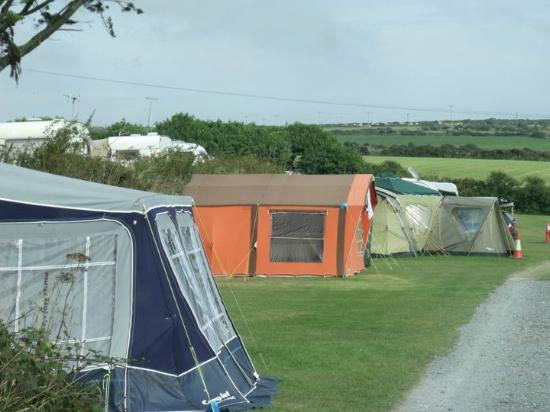Lower Treave Caravan and Camping Park: I had to include this, our first trailer tent, never had problems finding it