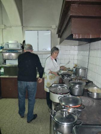 Trattoria Tacconi: Angelo and Graziella preparing a special meal