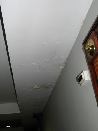 Hotel Reina Isabel: Water stains in ceiling immediately outside room