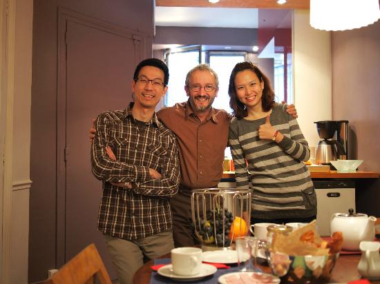 Le85 Paris: Jay, Didier and Rin... great host...making us feel like home :)