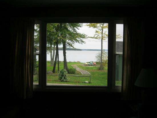 Windward Cottages: View of Western Bay from our cabin (#3).