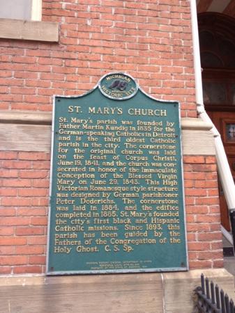 Old St. Mary's Church Detroit, MI