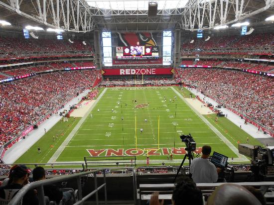 University of Phoenix Stadium: All in an enclosed, air conditioned arena.