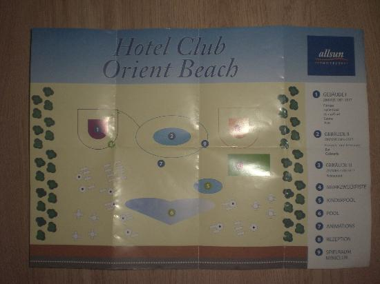 Basic but somewhat confusing map Picture of Orient Beach Sa