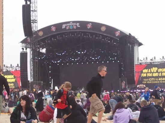 The Stone Pony: O palco do Bamboozle festival ficava na praia - maio/12
