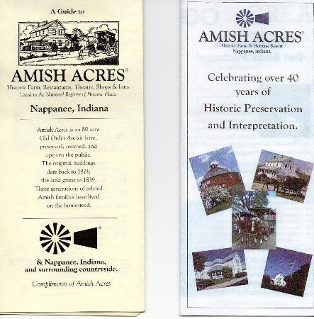 The Inn at Amish Acres: Brochures