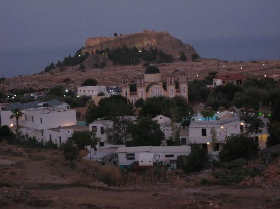 Lindos Horizon: The Acropolis (from the balcony)