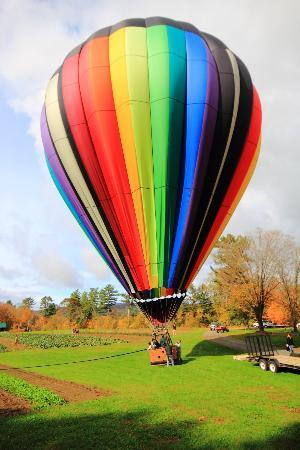 Balloons of Vermont - Private Flights: Touchdown!!